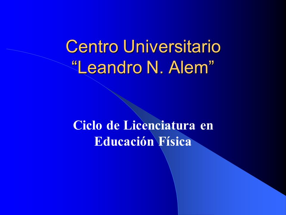 Centro Universitario Leandro N. Alem