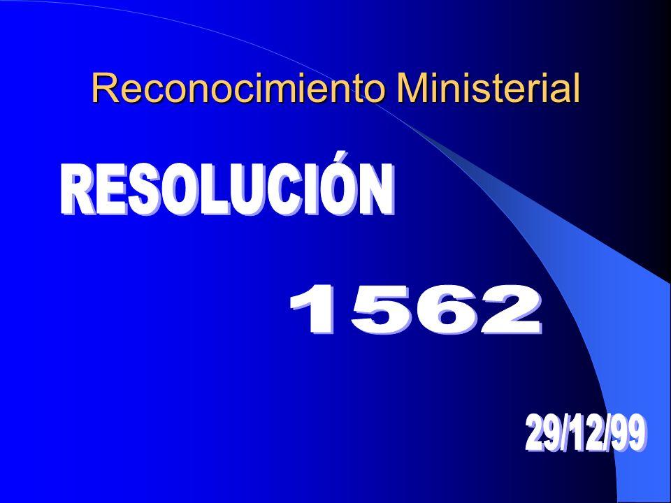 Reconocimiento Ministerial