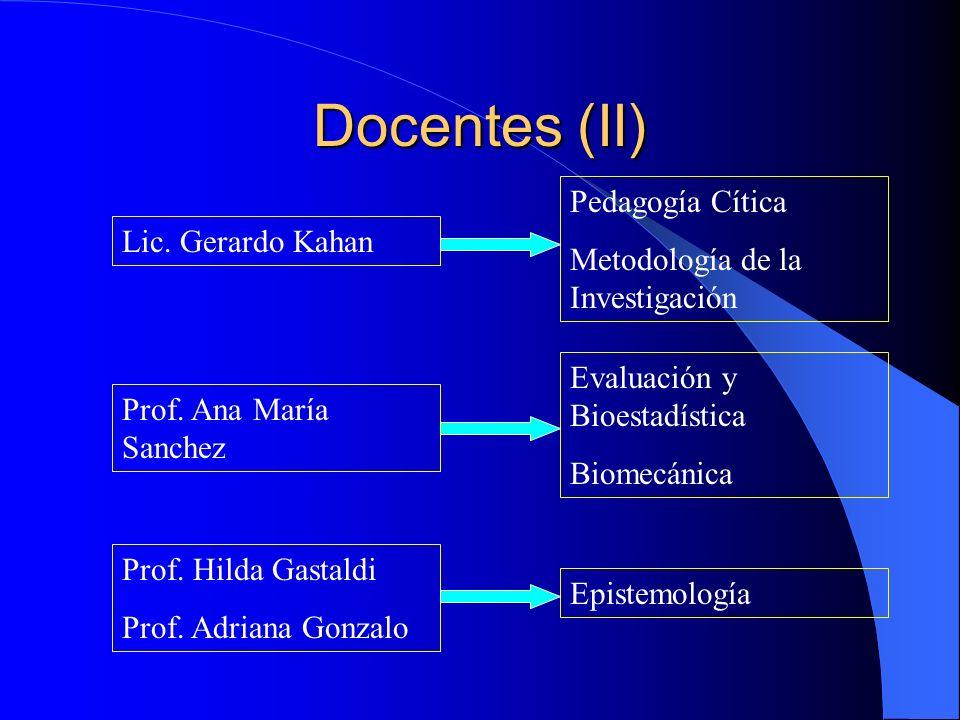 Docentes (II) Pedagogía Cítica Metodología de la Investigación