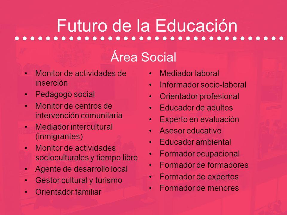 Futuro de la Educación Área Social Monitor de actividades de inserción