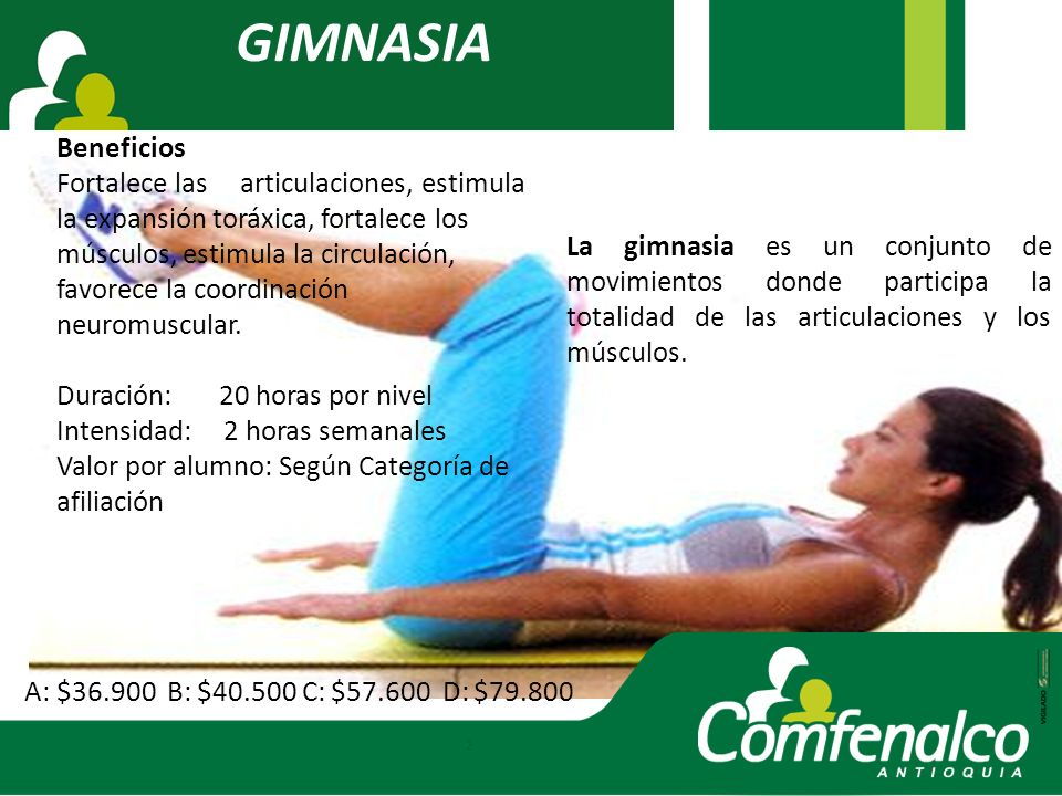 GIMNASIA Beneficios.