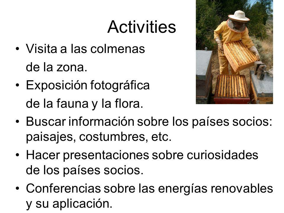 Activities Visita a las colmenas de la zona. Exposición fotográfica