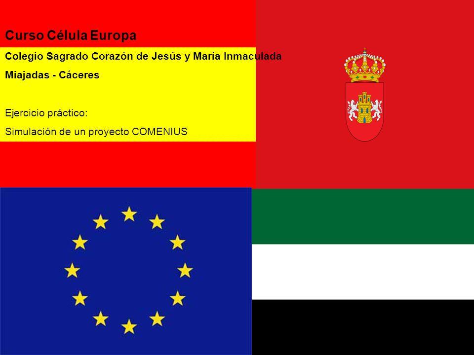 Curso Célula Europa Colegio Sagrado Corazón de Jesús y María Inmaculada. Miajadas - Cáceres. Ejercicio práctico: