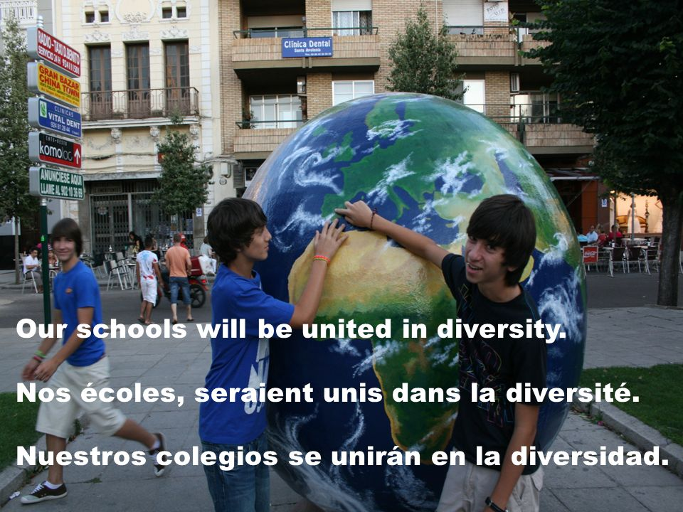 Our schools will be united in diversity.