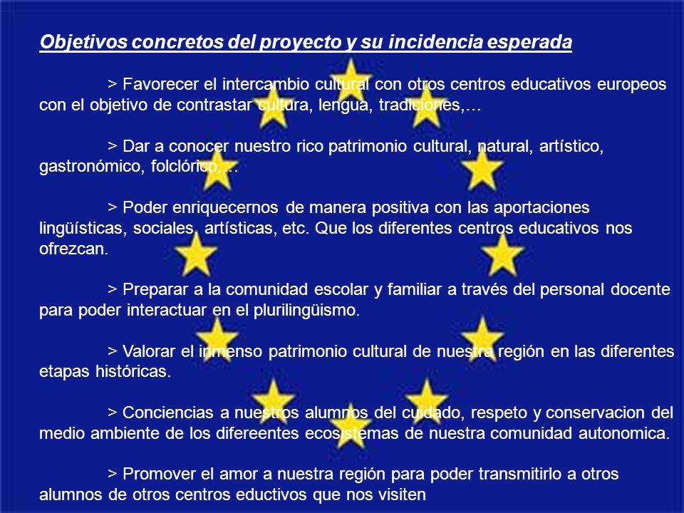 Objetivos concretos del proyecto y su incidencia esperada