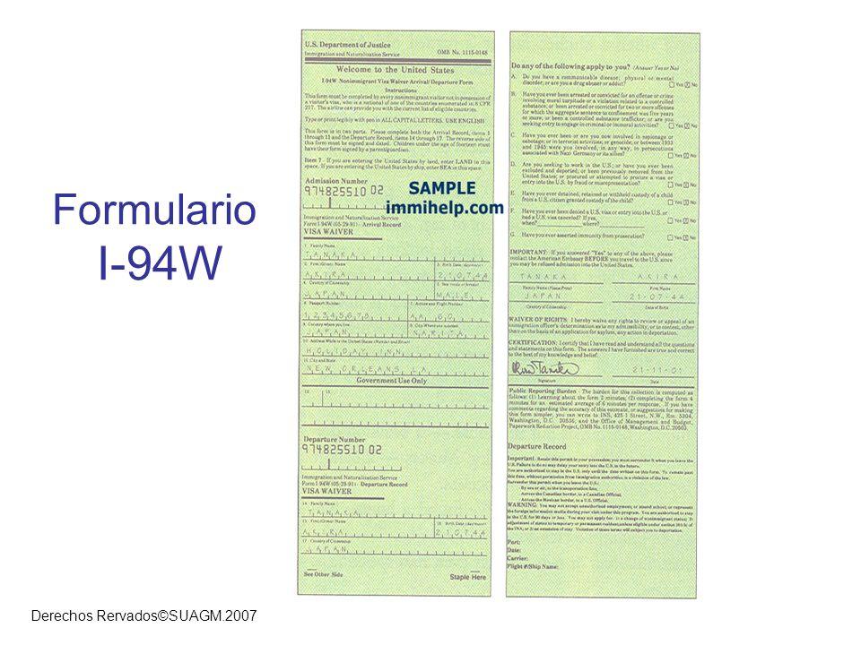 Formulario I-94W