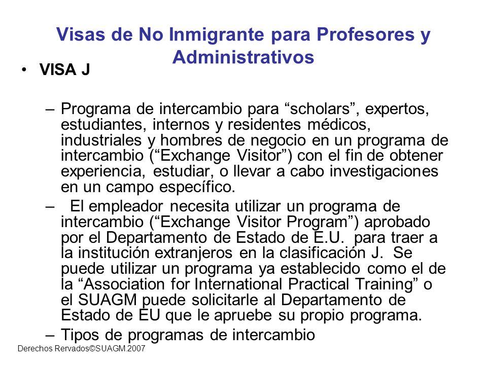 Visas de No Inmigrante para Profesores y Administrativos