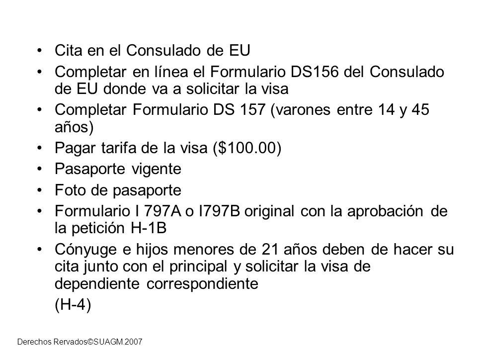 Cita en el Consulado de EU