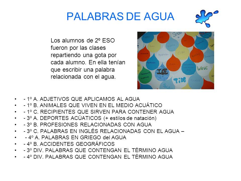 PALABRAS DE AGUA