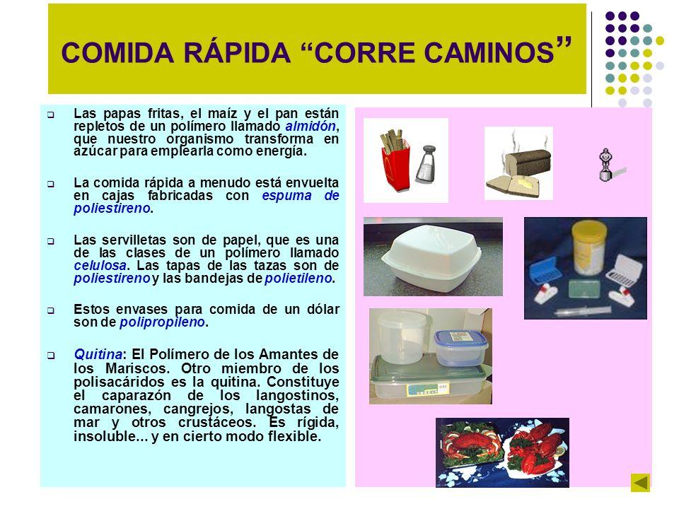COMIDA RÁPIDA CORRE CAMINOS