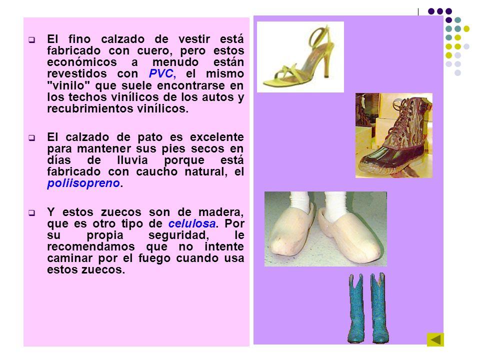 El fino calzado de vestir está fabricado con cuero, pero estos económicos a menudo están revestidos con PVC, el mismo vinilo que suele encontrarse en los techos vinílicos de los autos y recubrimientos vinílicos.