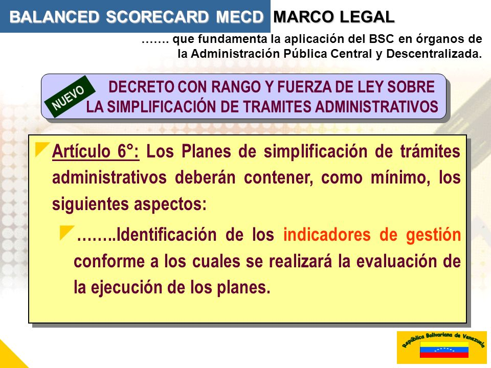 BALANCED SCORECARD MECD MARCO LEGAL