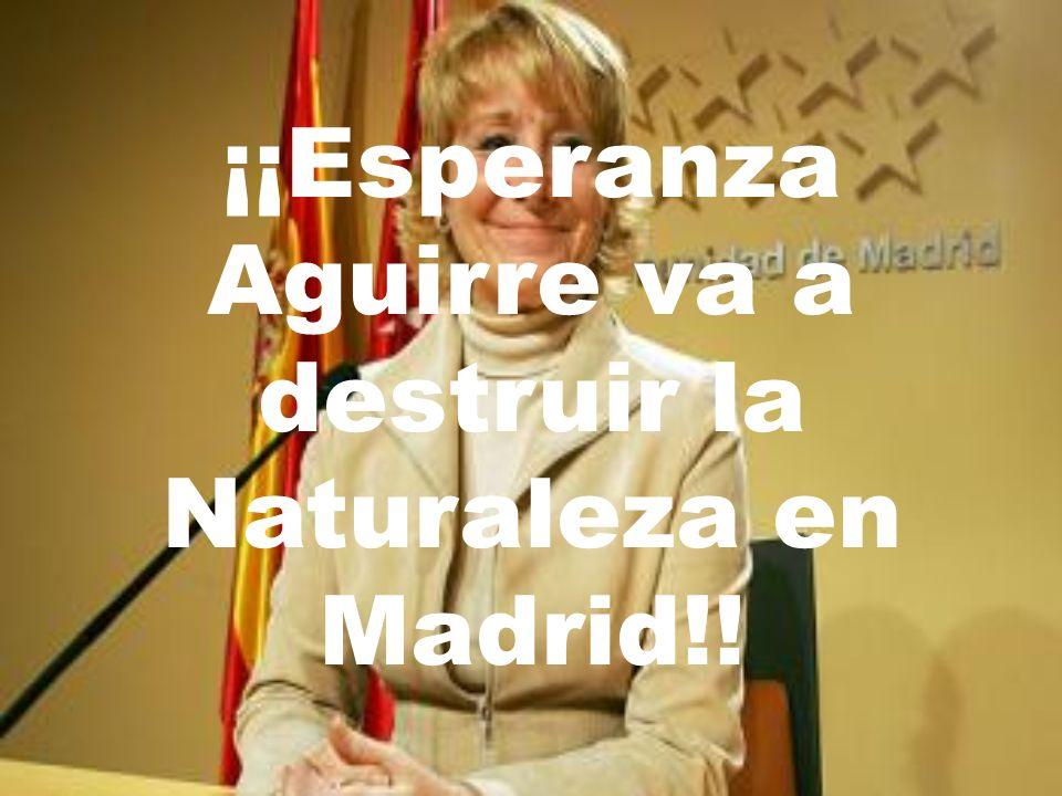 ¡¡Esperanza Aguirre va a destruir la Naturaleza en Madrid!!
