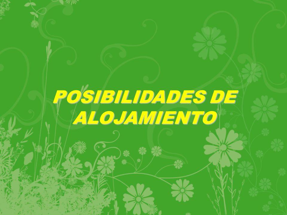 POSIBILIDADES DE ALOJAMIENTO