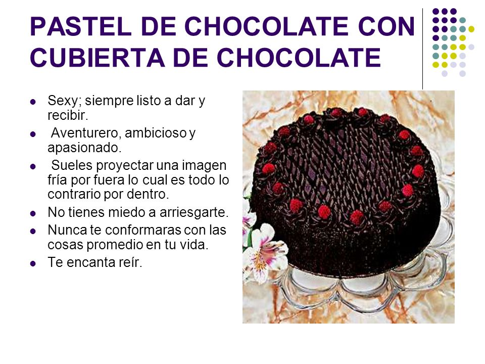 PASTEL DE CHOCOLATE CON CUBIERTA DE CHOCOLATE