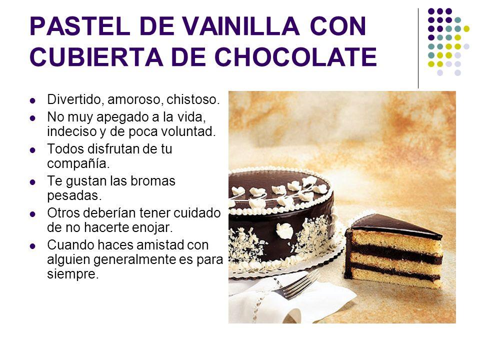 PASTEL DE VAINILLA CON CUBIERTA DE CHOCOLATE