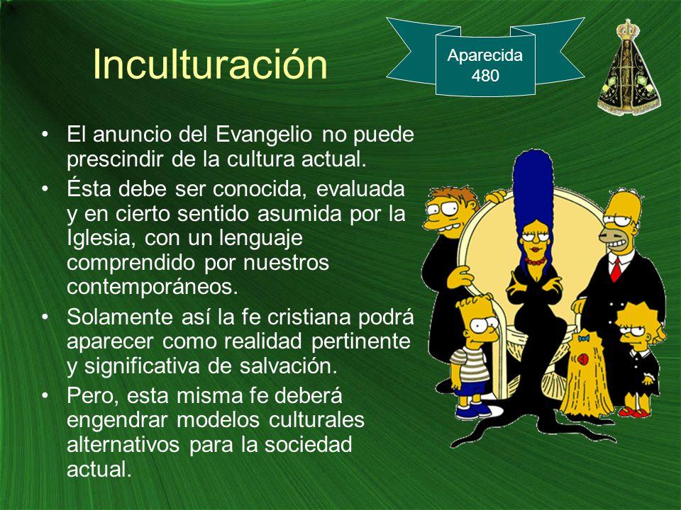 Inculturación Aparecida. 480. El anuncio del Evangelio no puede prescindir de la cultura actual.