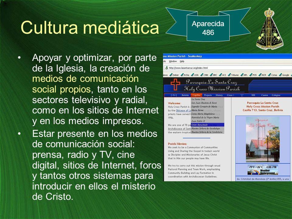 Cultura mediática Aparecida. 486.