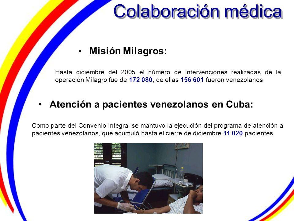 Colaboración médica Misión Milagros: