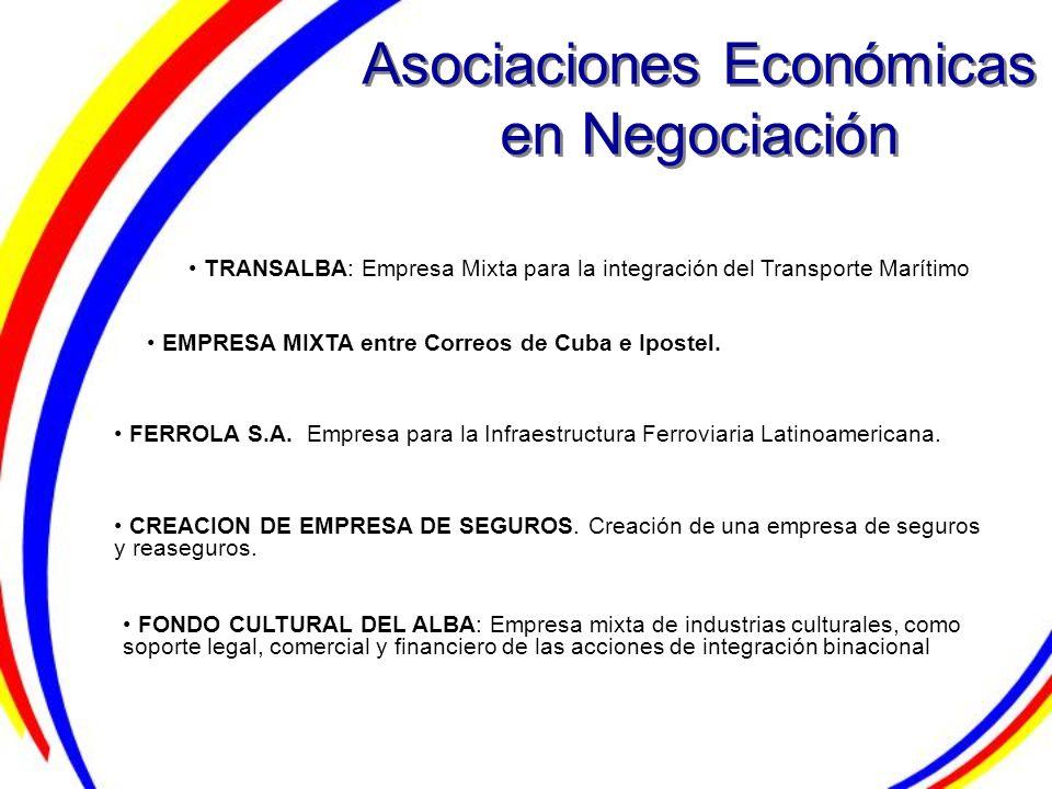 Asociaciones Económicas en Negociación