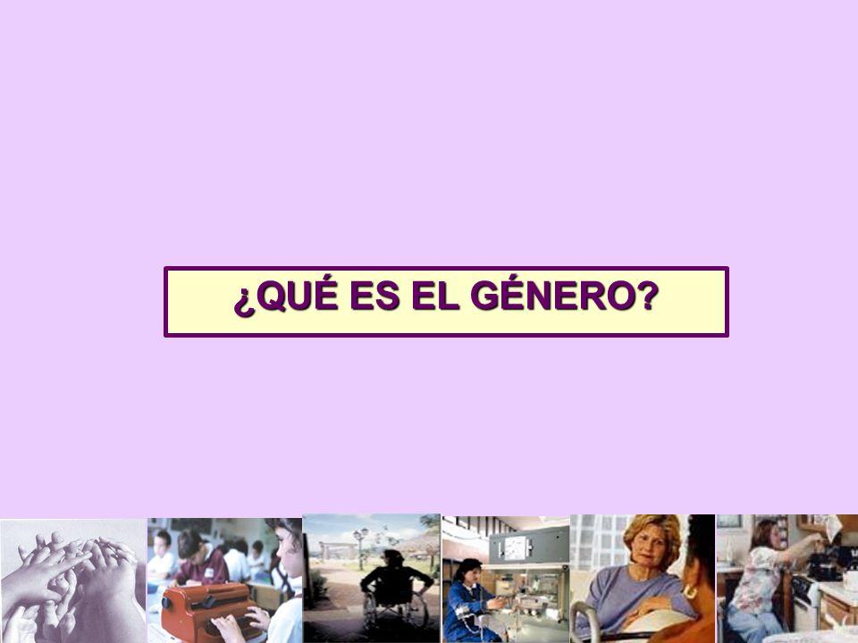 ¿QUÉ ES EL GÉNERO