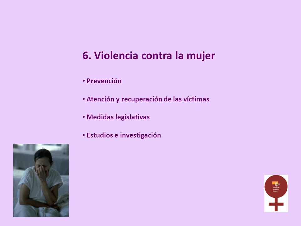 6. Violencia contra la mujer