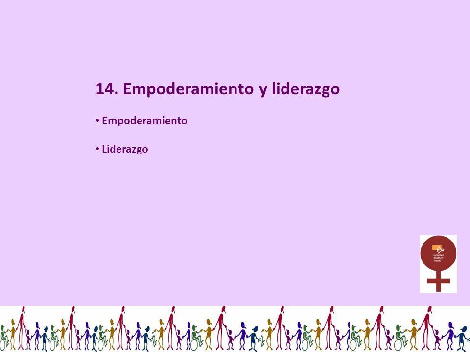 14. Empoderamiento y liderazgo