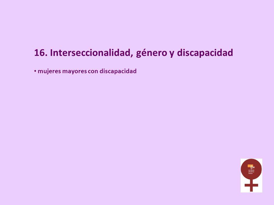 16. Interseccionalidad, género y discapacidad