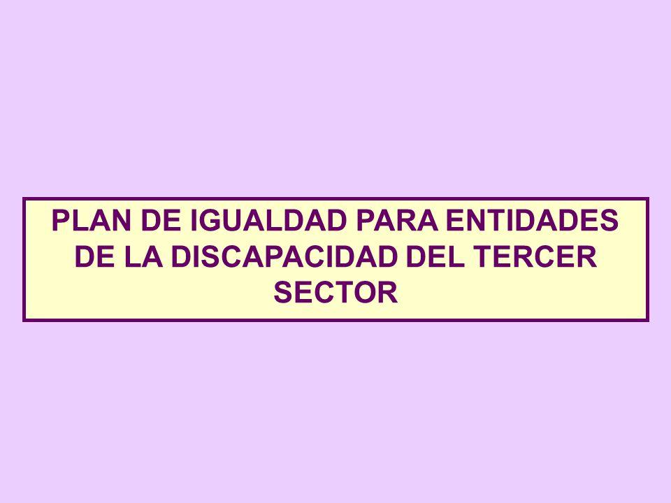 PLAN DE IGUALDAD PARA ENTIDADES DE LA DISCAPACIDAD DEL TERCER SECTOR