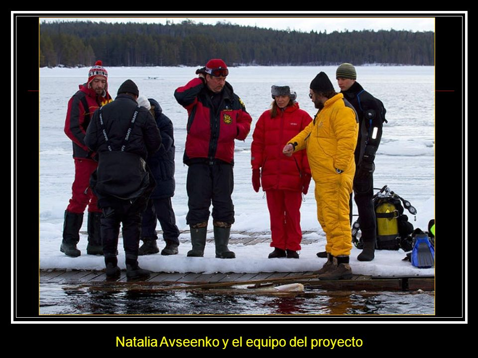 Natalia Avseenko y el equipo del proyecto