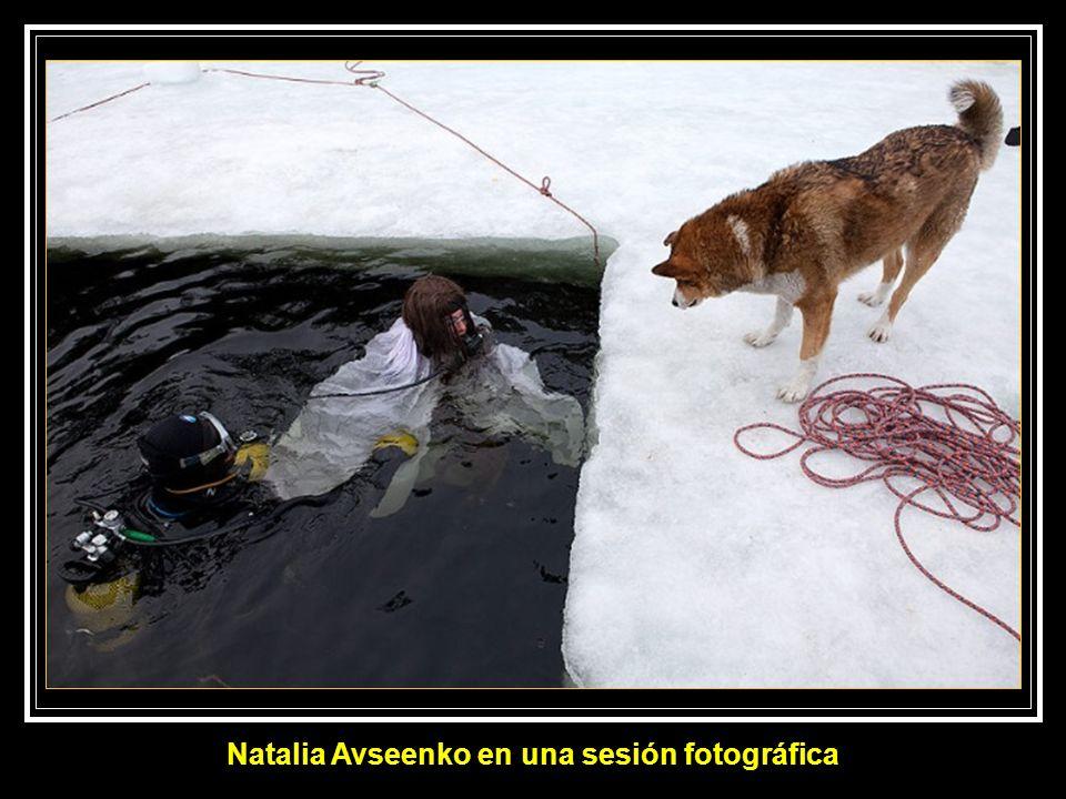 Natalia Avseenko en una sesión fotográfica