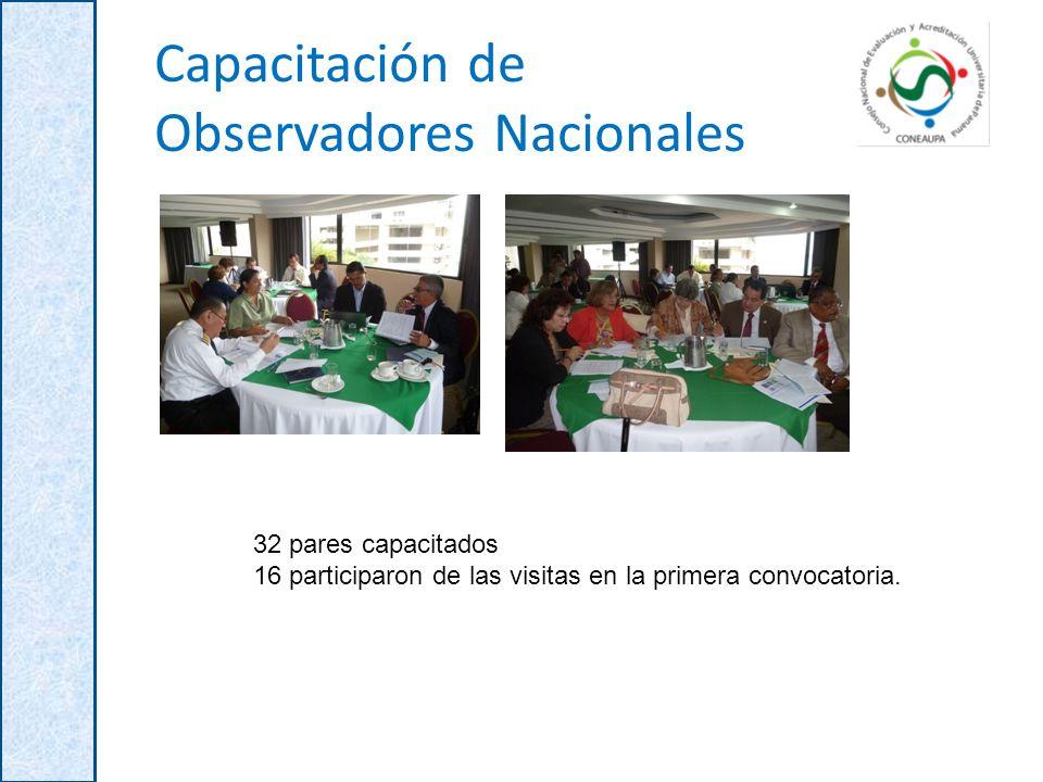Capacitación de Observadores Nacionales