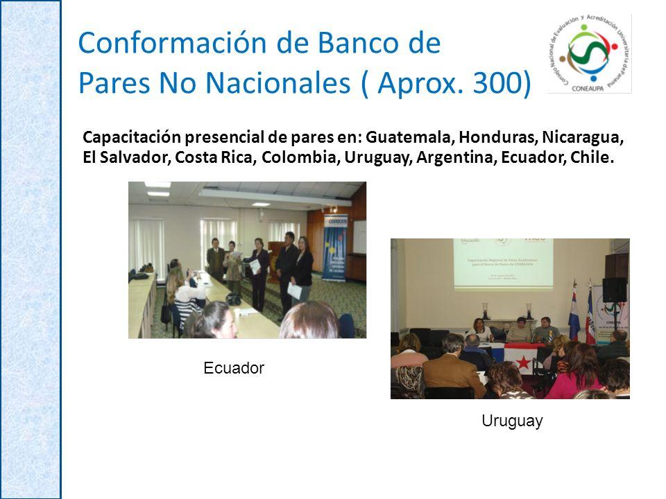 Conformación de Banco de Pares No Nacionales ( Aprox. 300)