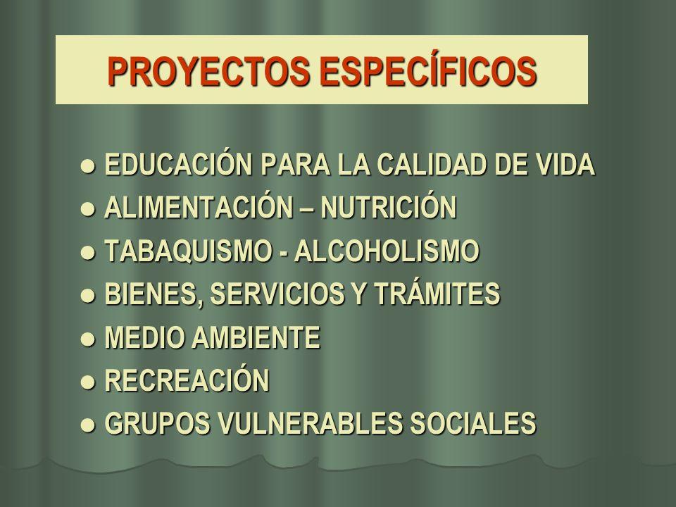 PROYECTOS ESPECÍFICOS