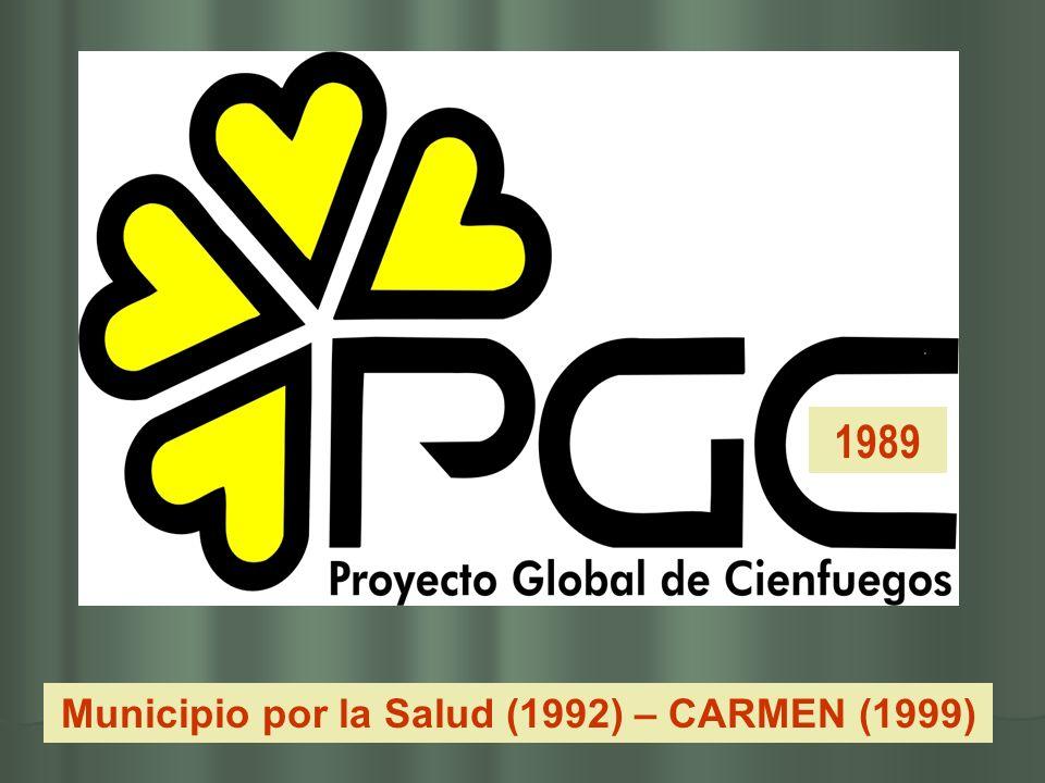 Municipio por la Salud (1992) – CARMEN (1999)