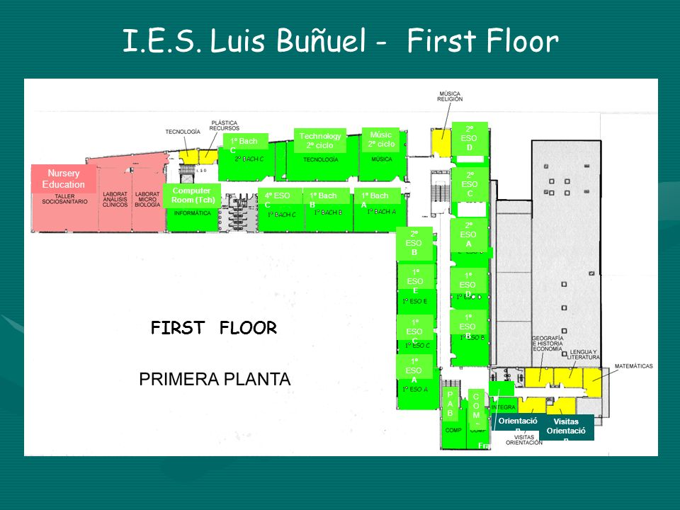 I.E.S. Luis Buñuel - First Floor
