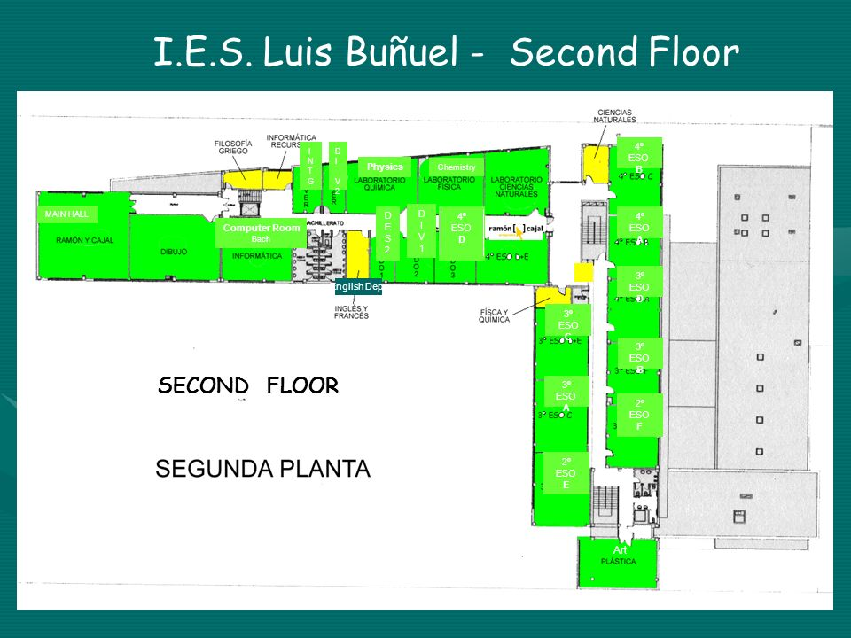 I.E.S. Luis Buñuel - Second Floor