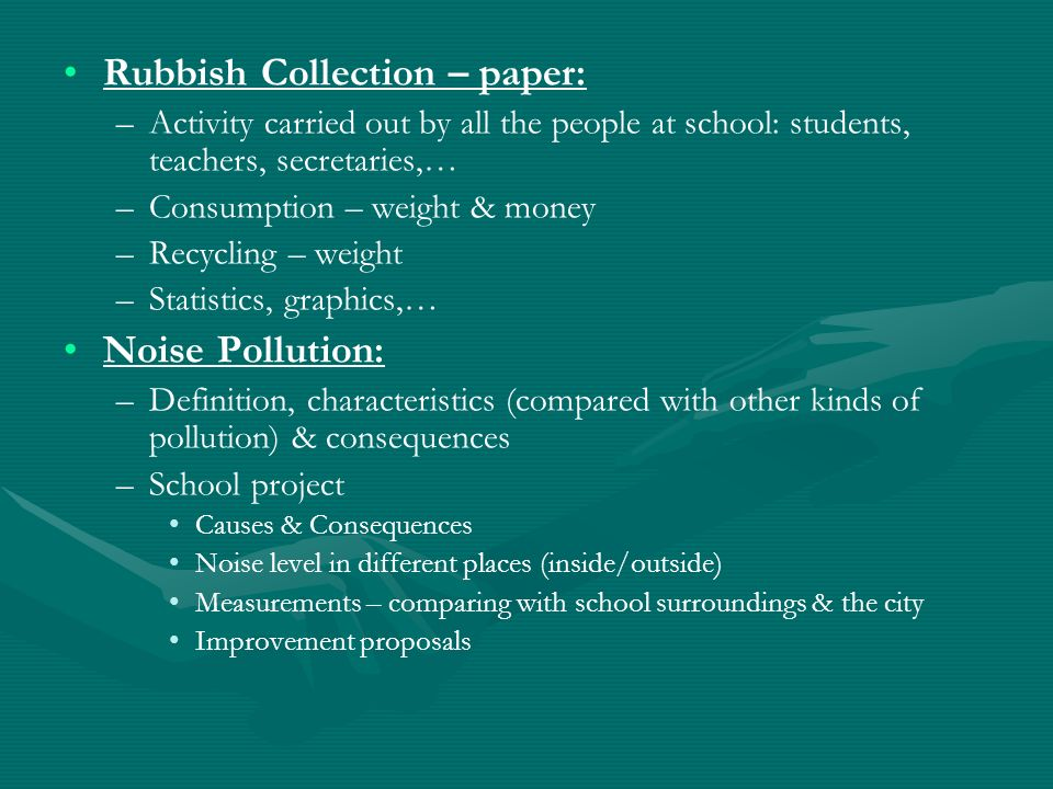 Rubbish Collection – paper:
