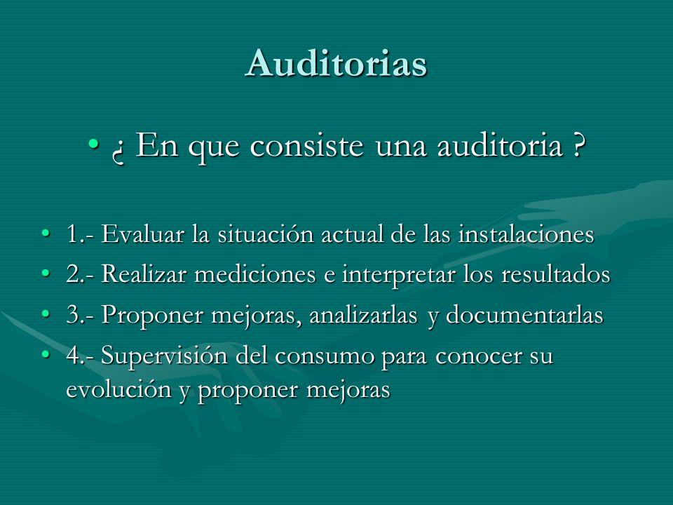 ¿ En que consiste una auditoria