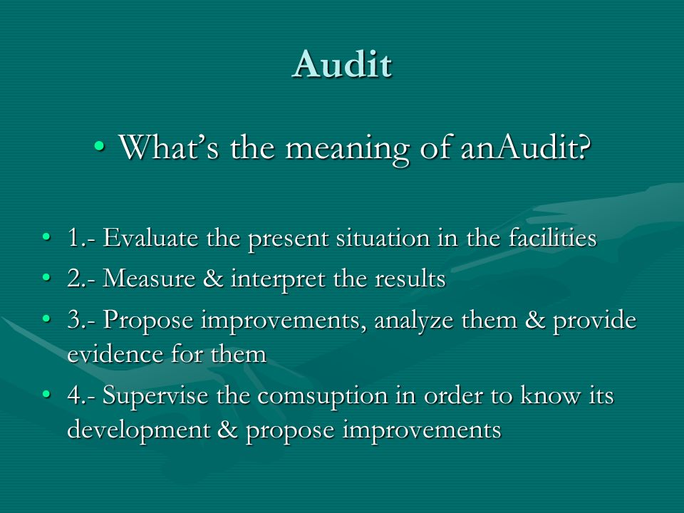 What's the meaning of anAudit