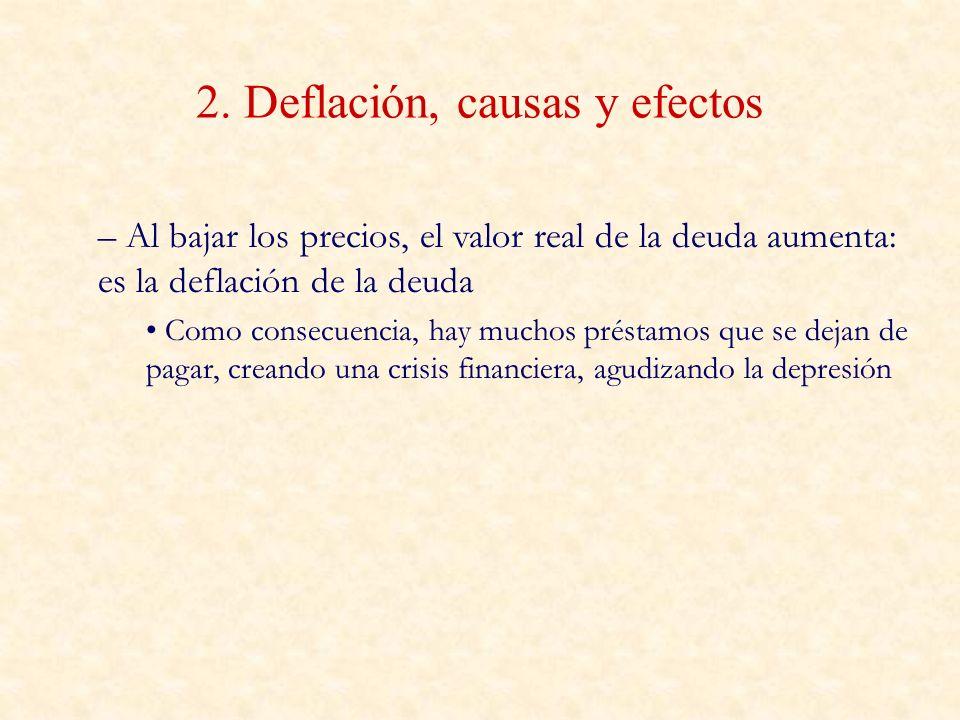 2. Deflación, causas y efectos
