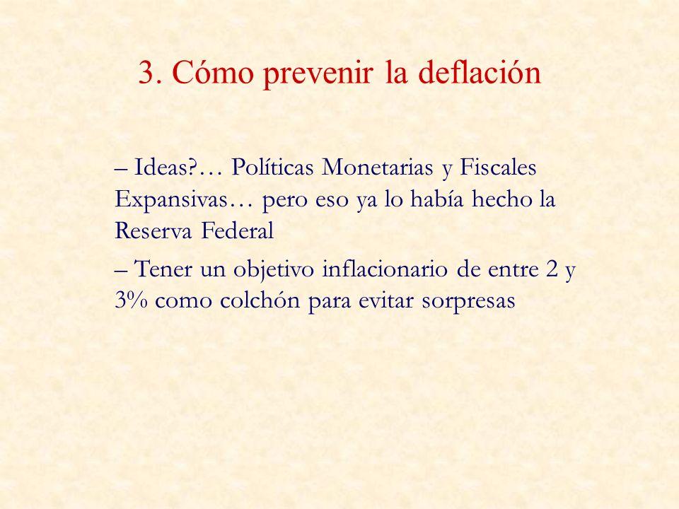 3. Cómo prevenir la deflación