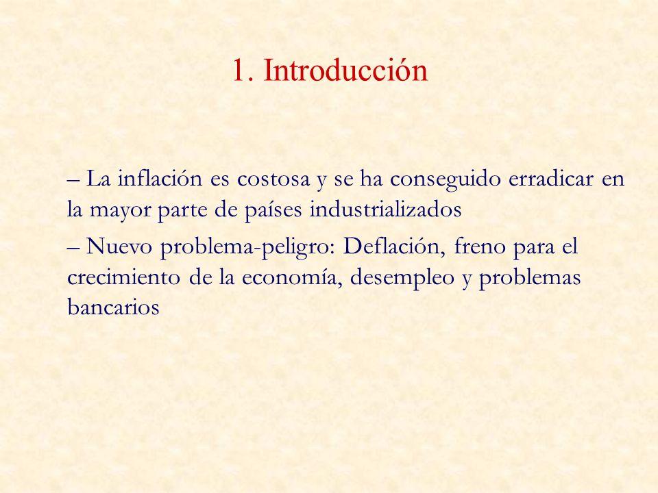 1. Introducción La inflación es costosa y se ha conseguido erradicar en la mayor parte de países industrializados.