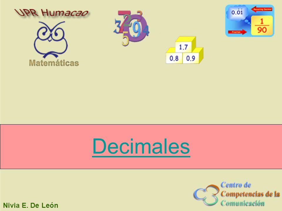 Decimales Nivia E. De León