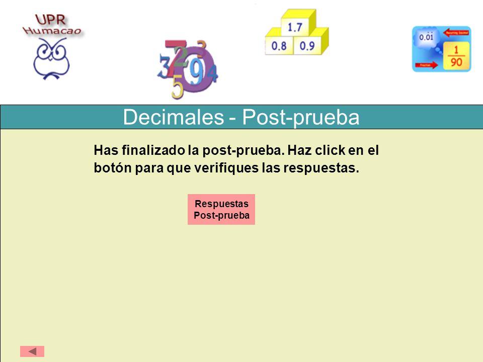 Decimales - Post-prueba