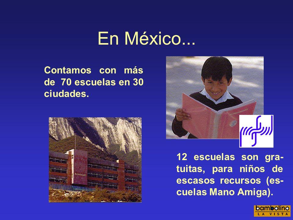 En México... Contamos con más de 70 escuelas en 30 ciudades.