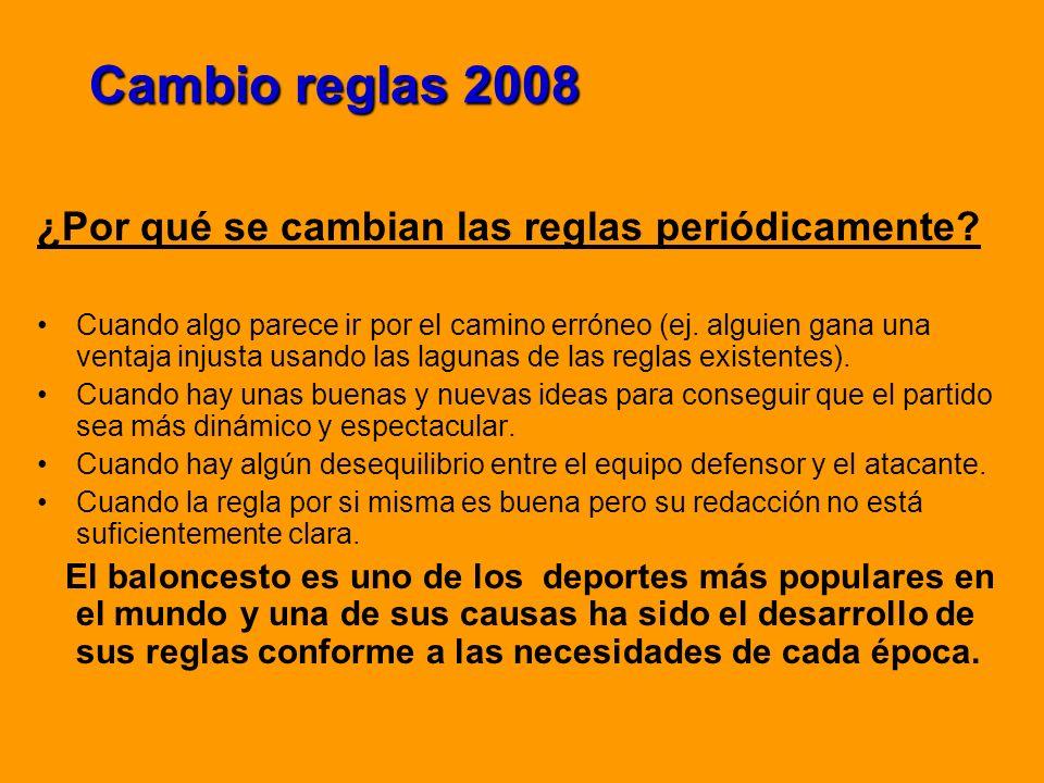 Cambio reglas 2008 ¿Por qué se cambian las reglas periódicamente