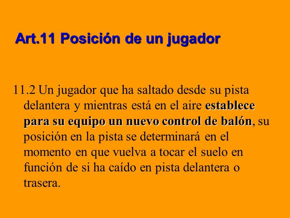 Art.11 Posición de un jugador