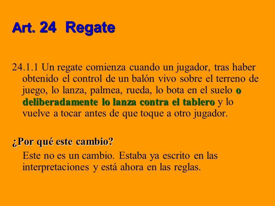 Art. 24 Regate