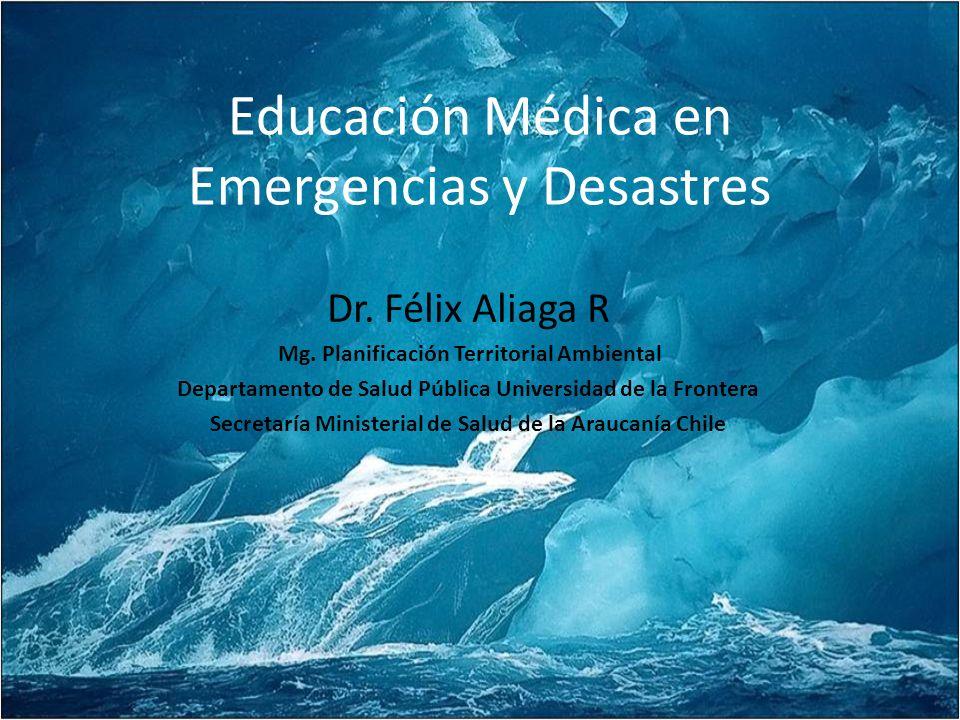 Educación Médica en Emergencias y Desastres